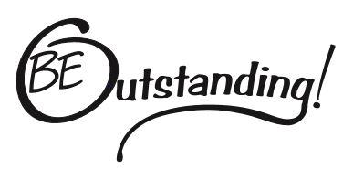 Be Outstanding -Black