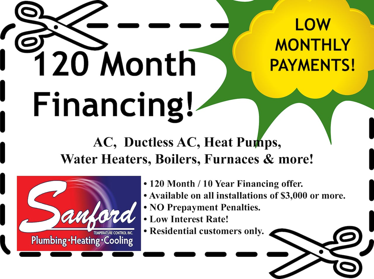 120 Month Financing