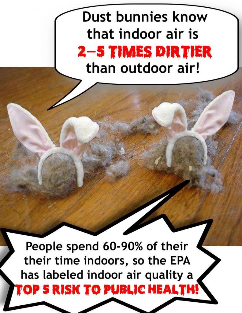 Aeroseal Graphic Dust Bunnies