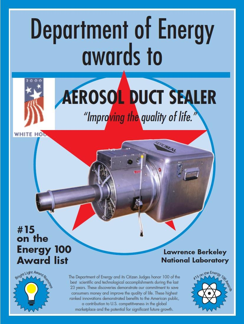 Dept of Energy Award - Aeroseal