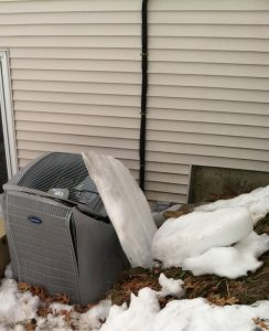 Ice crushes heat pump because of no attic insulation