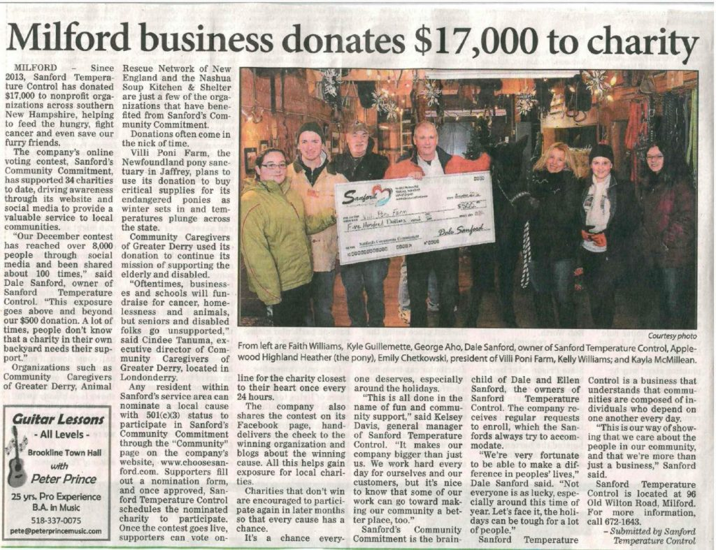 Milford Business Donates 17K to Charity