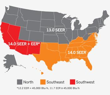 SEER Map USA